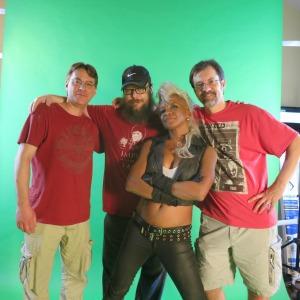 The RAINmakers: Director Jeff Stolhand, Producer Matt Joyce, (me), Director Zane Rutledge
